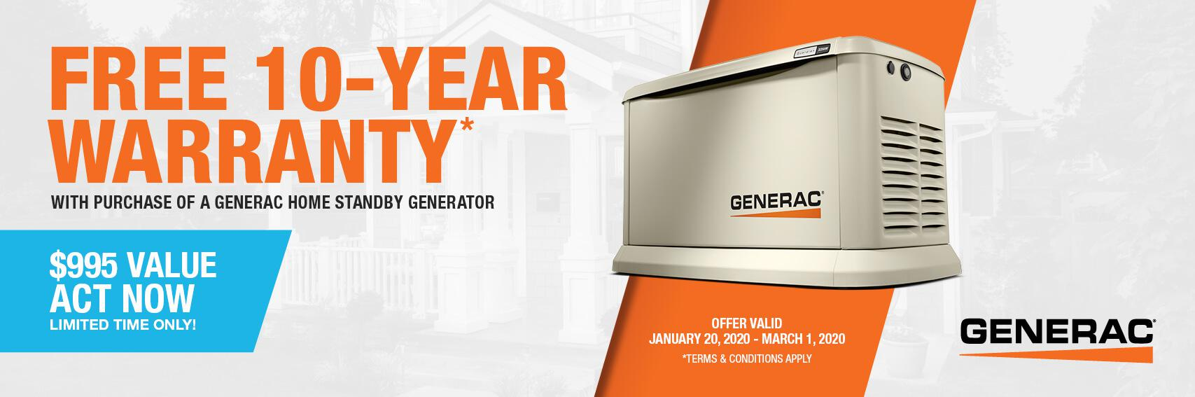 Homestandby Generator Deal | Warranty Offer | Generac Dealer | Colorado Springs, CO